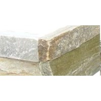 "MS International Golden Honey Ledger Corner 6"" x 6"" Natural Slate Wall Tile : LPNLQGLDHON66COR"