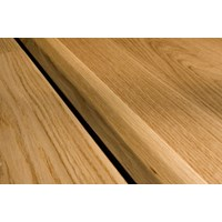 "Kahrs Linnea City Collection: T-mold Oak Blanc - 78"" Long"