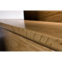 "Kahrs Linnea City Collection: Flush Stair Nose Oak Blanc - 78"" Long"