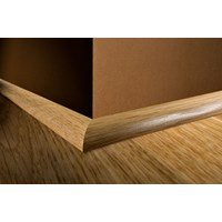 "Kahrs Linnea City Collection: Quarter Round Oak Blanc - 78"" Long"