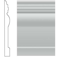 "Roppe Visuelle Rubber Wall Base: Light Gray 195- 4 1/2"" x 120"