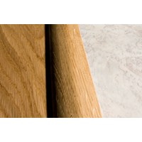 "Kahrs Linnea City Collection:  Overlap Reducer Hard Maple Espresso - 78"" Long"