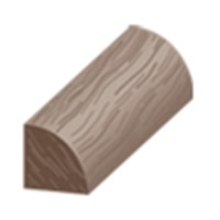 "Columbia Traditional Clic: Quarter Round Oregon Walnut Fog - 94"" Long"