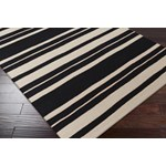 "Surya Frontier Coal Black (FT-439) Square 0'6"" x 0'6"""