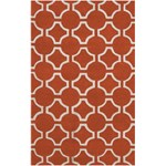"Surya Jill Rosenwald Zuna Poppy Red (ZUN-1041) Rectangle 5'0"" x 8'0"""